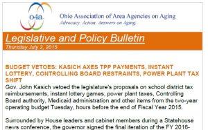 Image of o4a Legislative and Policy Bulletin
